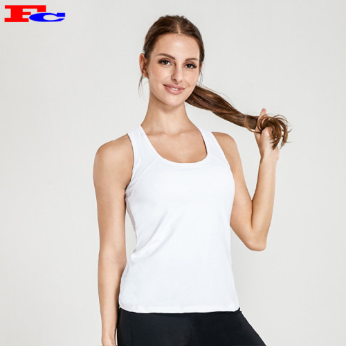 Blanc Version Wwith Chic Back Collar Dri Fit Débardeurs Femme