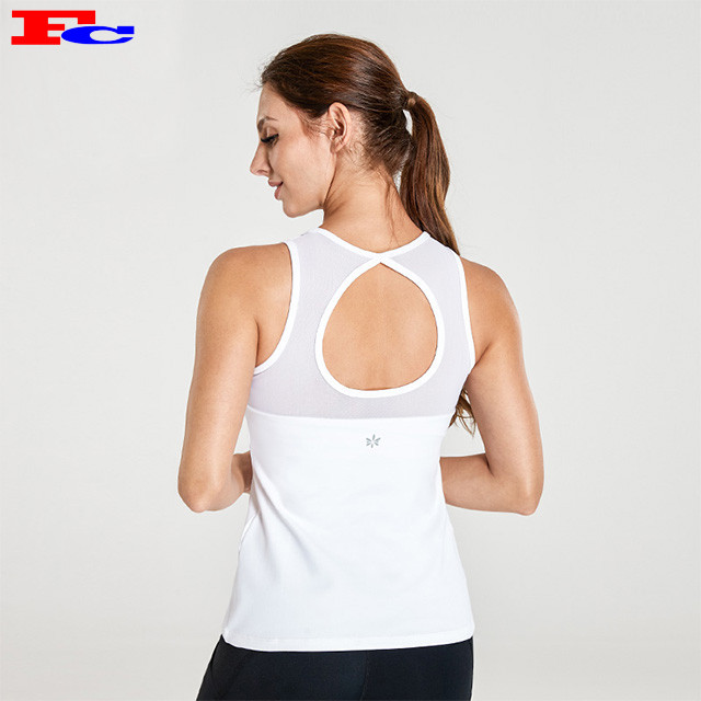 Version Blanche Wwith Chic Back Collar Dri Fit Débardeurs Femme