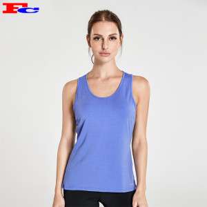 Royal Blue  Open Cross Sexy Back Athletic Tank Tops Wholesale