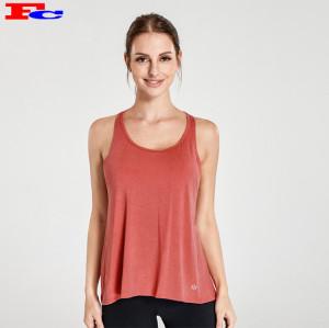 Brick Red Open Cross Back Top et leggings noirs fabricants de vêtements de fitness