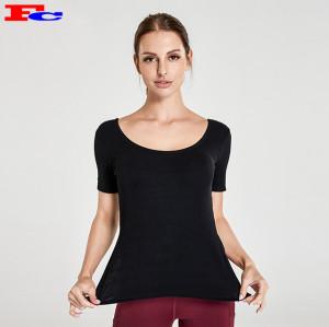 Vente en gros Active Wear-T noir et leggings rouges