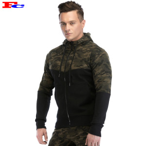 Wholesale Mens Hoodies Men's Zip Up Camo Hoodie