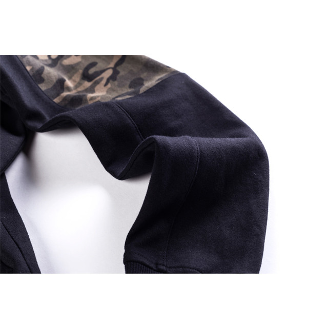 Wholesale Mens Hoodies Men's Zip Up Camo Hoodie
