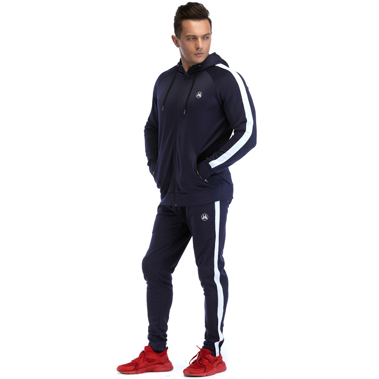 Wholesale Tracksuits Mens Slim Fit  Polyester Streetwear