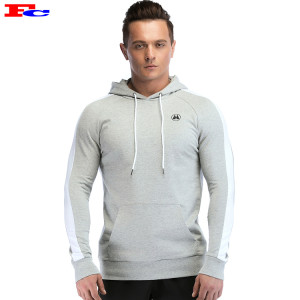 Light Gray Slim Fit Gym Hoodies Cheap