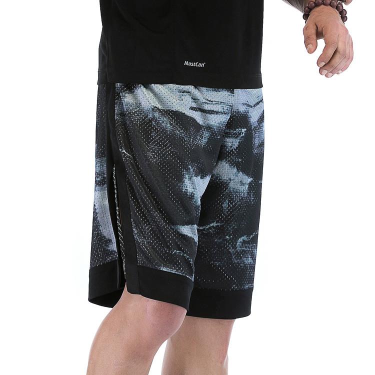 Mesh Polyester Digital Printing Mens Dri Fit Shorts Wholesale