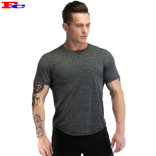 Wholesale Mens T Shirts Slim Fit Round Bottom Fitness Tee