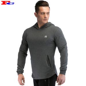 Buy Hoodies In Bulk Dark Gray Curved Hem Sweatshirts