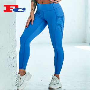 Royal Blue With Side Pocket Leggings Manufacturer