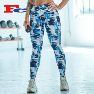 Funky Graffiti Print Workout Pants Wholesale Fashion Leggings Suppliers