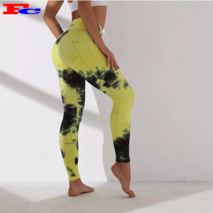 Stylish New Style Opaque Soft Leggings Tie Dye Womens Yoga Pants Wholesale
