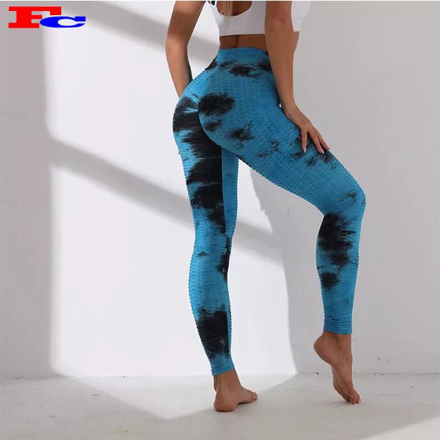 Stilvolle neue Art undurchsichtige weiche Leggings Tie Dye Womens Yoga Hosen Großhandel