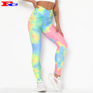 Customizable Yoga Pants Hot Sale Printing Slim Leggings Tie Dye Yoga Pants