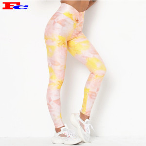 Custom Workout Pants Hot Sale Tie-Dye High Waist Leggings