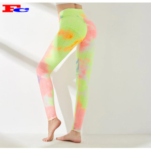 Women's High Waist Tie Dye Coloured Fitness Leggings Manufacturer