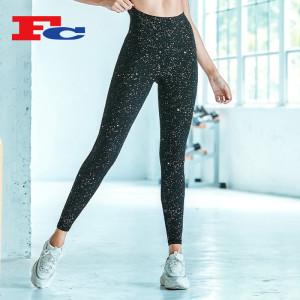 Leggings collants personnalisés avec processus d'estampage à chaud de mode