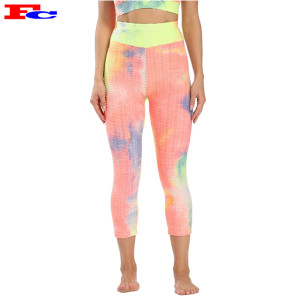 Oem High Waist Ink Tie Dye Printed Leggings Manufacturers