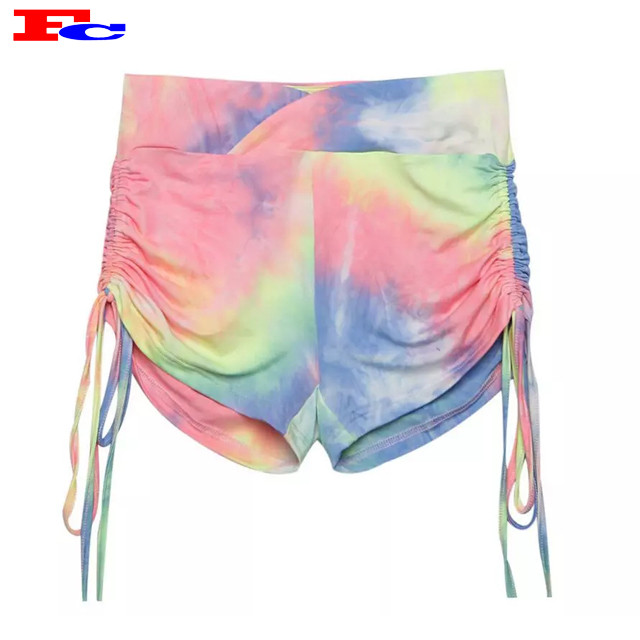 Wholesale Ladies Shorts Tie Dye Short  For Womens