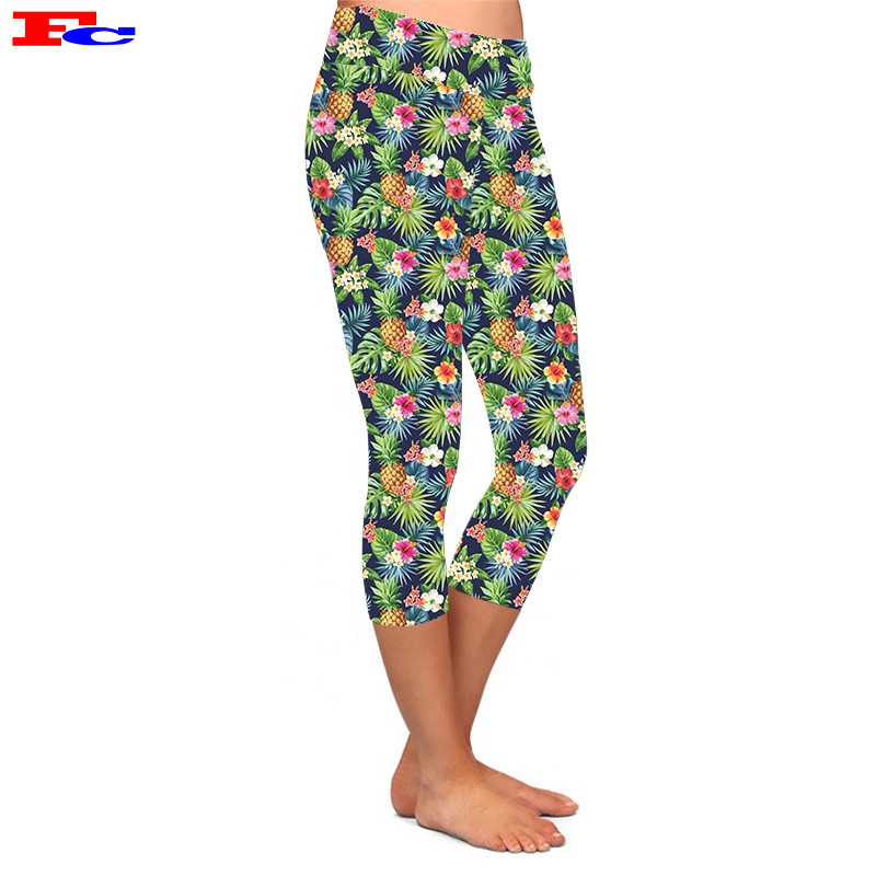 Fashionable And Beautiful Slim Seven Points Printed Leggings Manufacturers