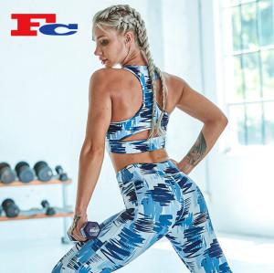 Vêtements de sport de gymnastique imprimés par graffiti en gros ou sur mesure