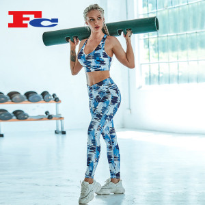 Graffiti Printed Gym Sportswear Wholesale Or Custom