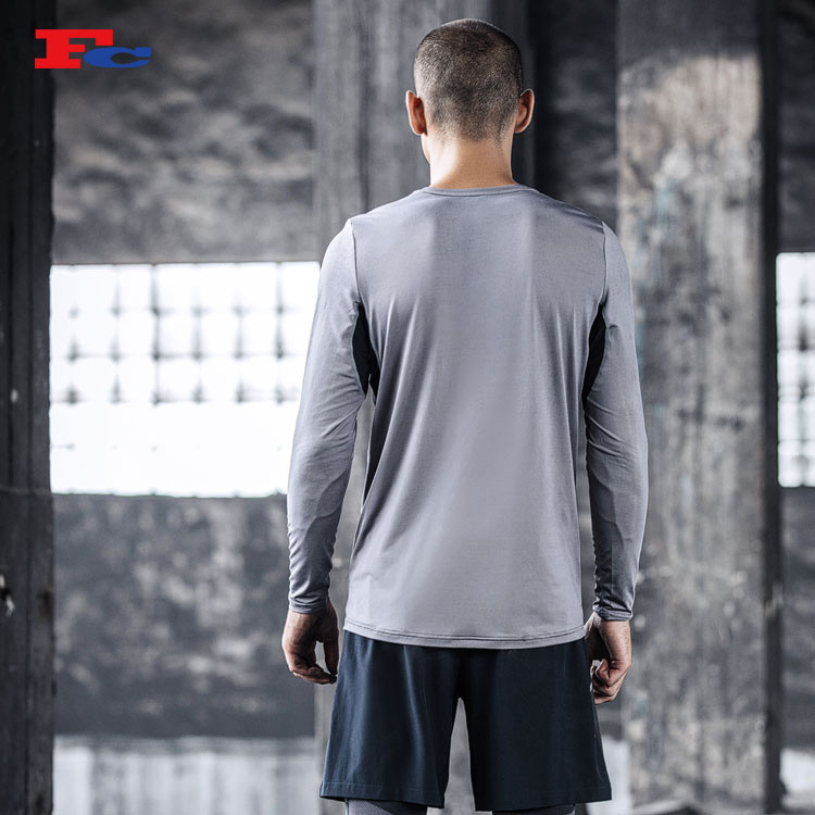 Men's Funky Long-Sleeved T-shirt Private Label T Shirt Manufacturer