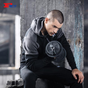 Grey And Black Cleverly Stitched Zip Up Hoodies Wholesale