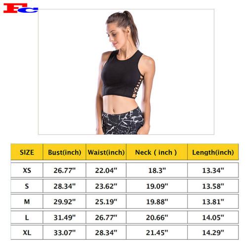 Black Side Strap Short Vest Ladies Tank Tops Wholesale