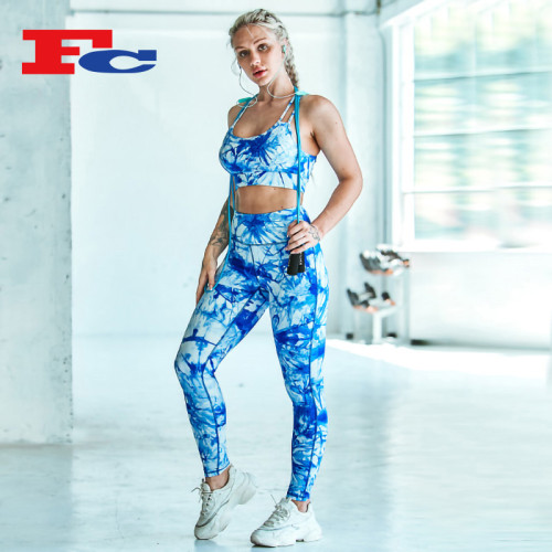 OEM Custom Tie-Dye Handelsmarken-Fitnessbekleidung
