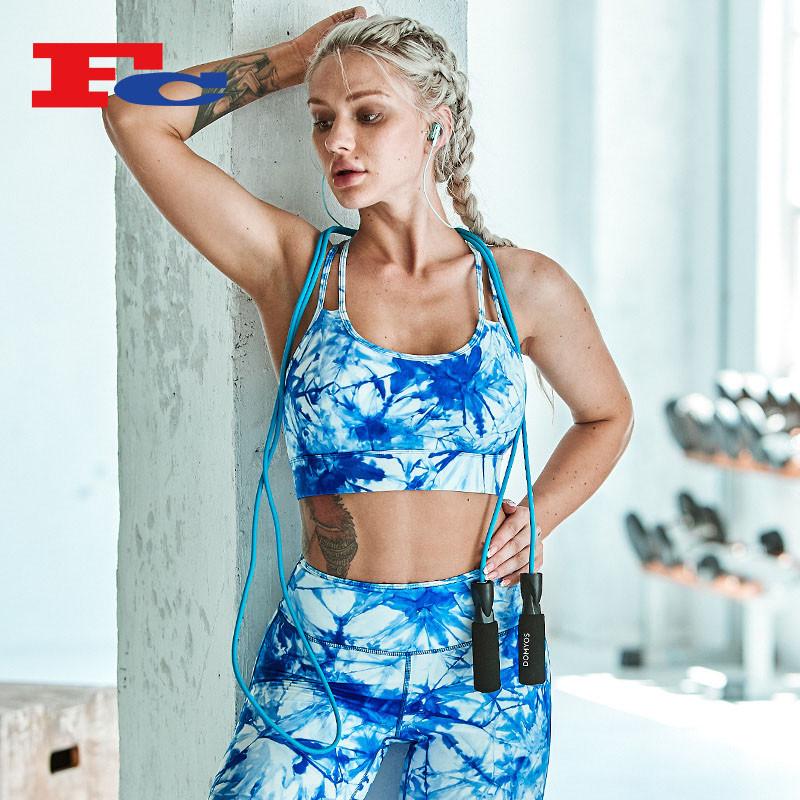 Vêtements de fitness personnalisés OEM Tie-Dye