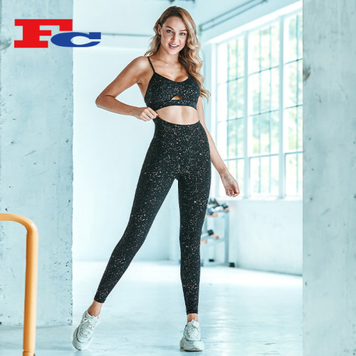 Chic Hot Stamping Process Fitness Clothing Wholesalers