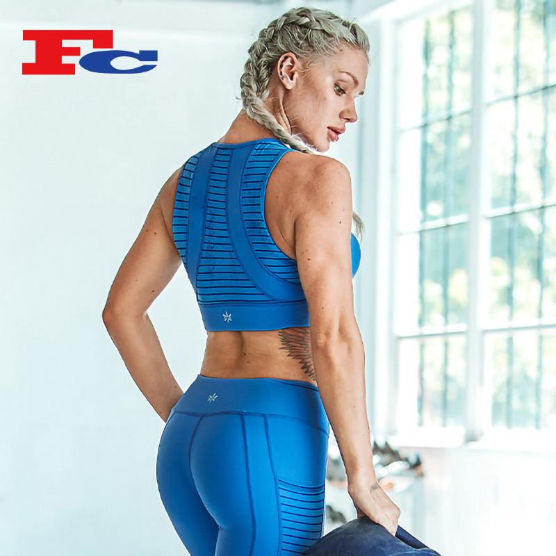 Royal Blue Ladies Short Tank Top Funky Sports Bras Wholesale
