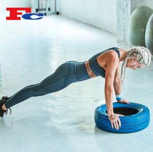 Ensemble de soutien-gorge de sport en maille contrastée Fournitures de gros de gymnastique