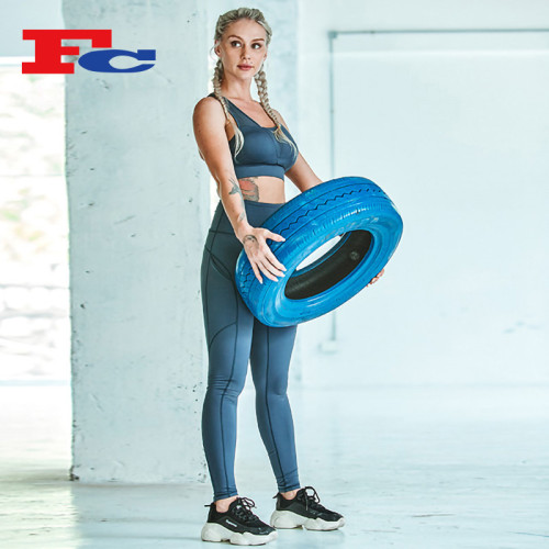 Mesh Contrast Sport-BH-Set Gym Großhandel Zubehör