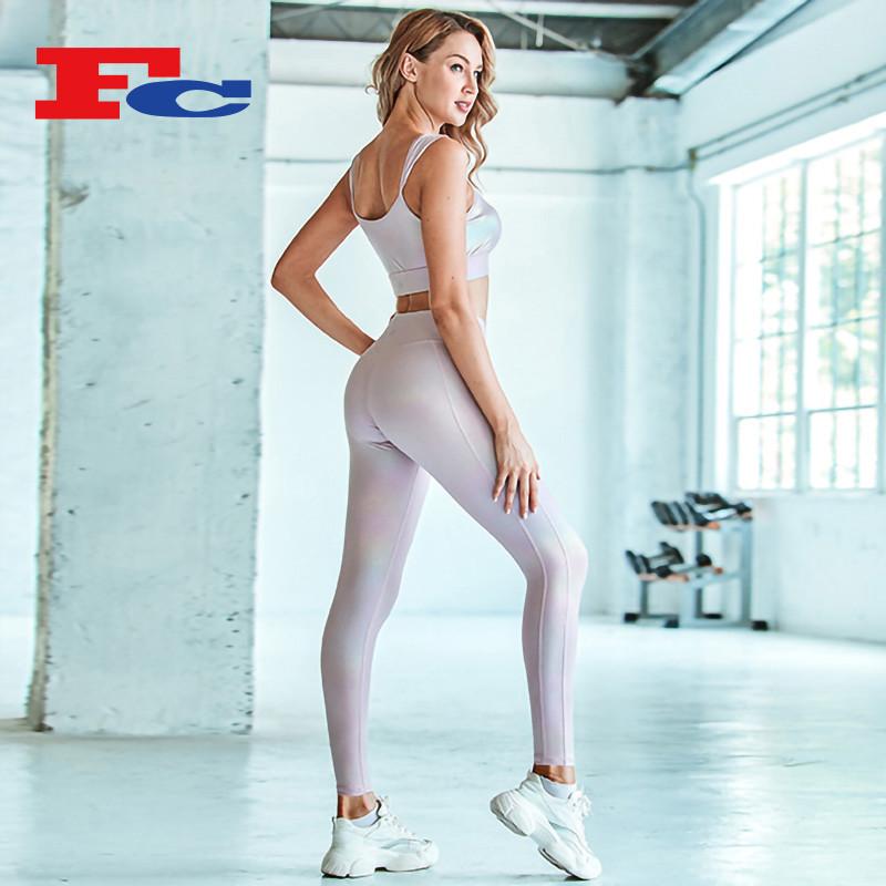 Funky Hot Stamping Craft Ladies Fitness Yoga Ensembles en gros
