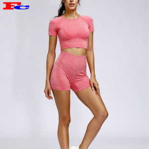 Sexy Womens Seamless Activewear Shorts Sets Private Label Bekleidungshersteller