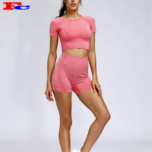 Les shorts de vêtements de sport sans couture pour femmes sexy définissent les fabricants de vêtements de marque privée