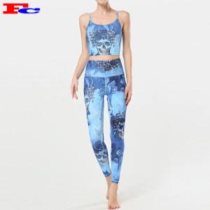 2020 femmes nouveau style imprimé vêtements de yoga personnalisés respirants