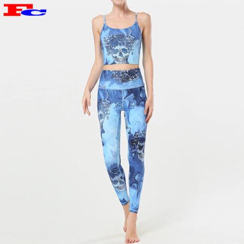 2020 Frauen New Style gedruckt atmungsaktive benutzerdefinierte Yoga-Bekleidung