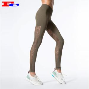 Fabricants de leggings à panneau en maille pour femmes