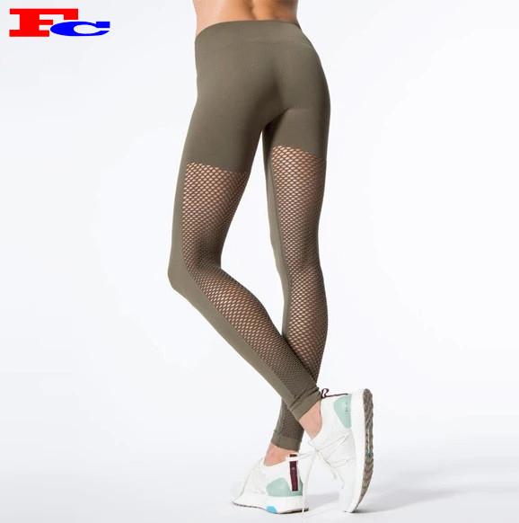 Frauen Mesh Panel Legging Hersteller