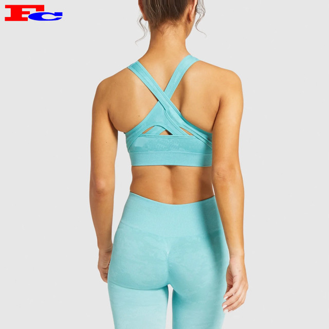 High Stretchy Workout Ribbed Seamless BH Hersteller