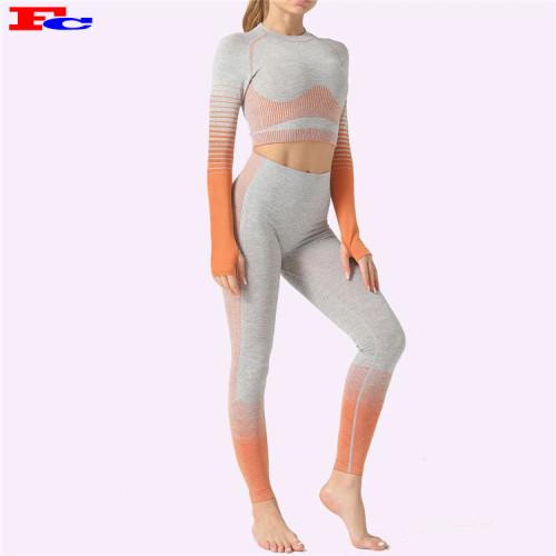 Stilvolle und schöne Farbverlauf nahtlose Fitness-Kleidung Großhandel