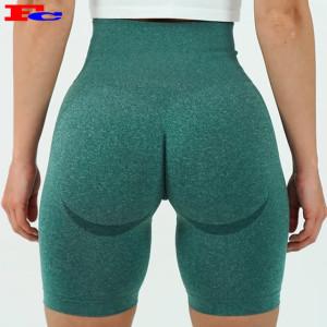 Shorts d'entraînement personnalisés Shorts de yoga sans couture taille haute