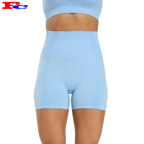 China Supplier Frauen hohe Taille nahtlose Jugend Athletic Shorts Großhandel