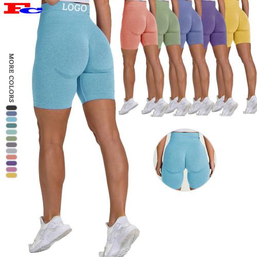 Benutzerdefinierte Logo High Waist Yoga Shorts Bulk Athletic Shorts