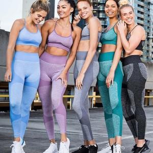 Commerce de gros de vêtements d'entraînement de remise en forme sans couture Fabricant de vêtements de marque privée