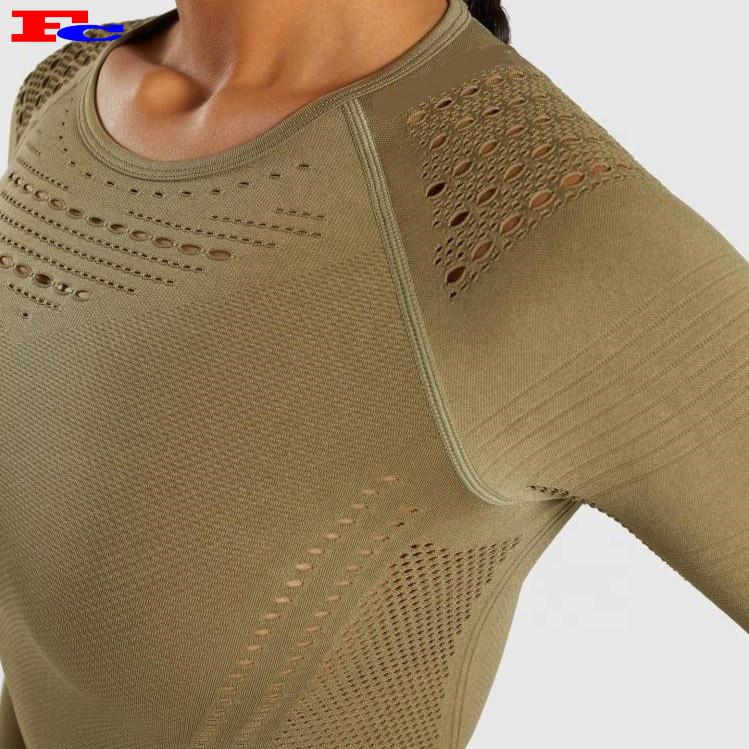 Fengcai Femmes Respirant Sans Couture Crop Tank Top Réservoirs D'entraînement En Gros