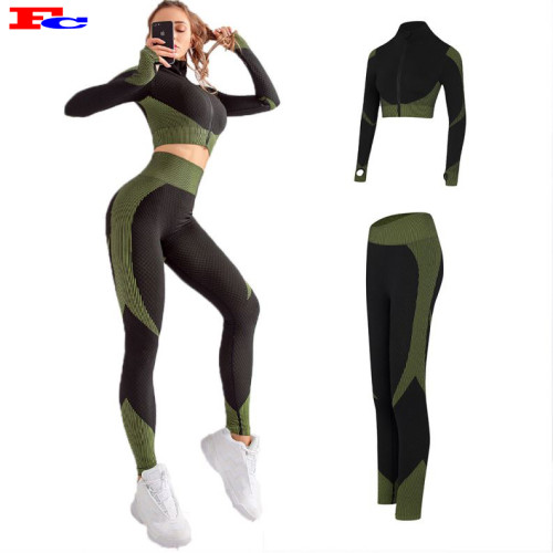 New Women Gymwear Set Lady Nahtlose Fitness Großhandel Kleidung