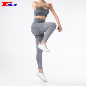 Vente en gros distributeurs de vêtements de sport femmes sans couture 2 pièces tenues leggings de gymnastique et soutien-gorge de sport